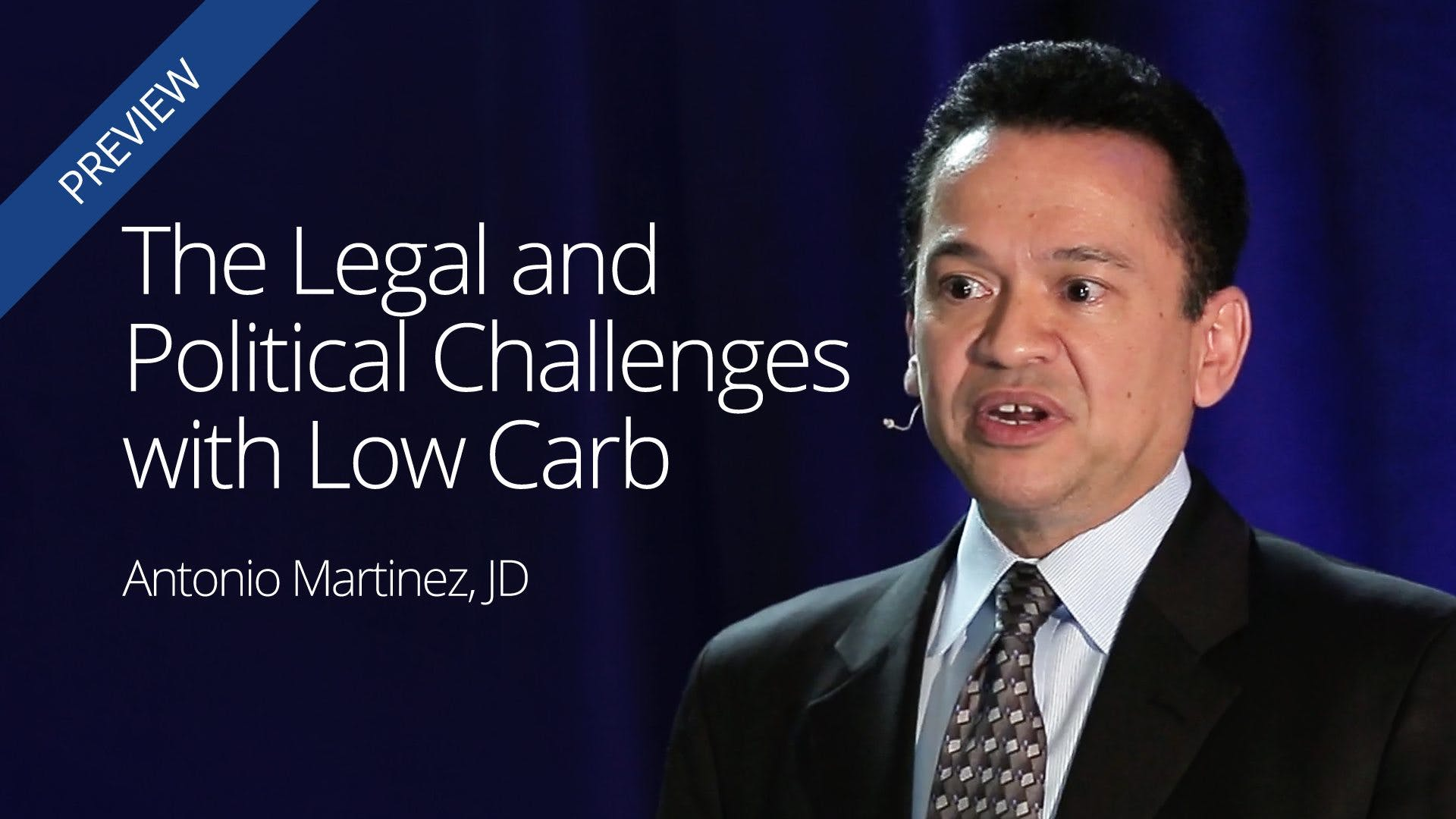 The Legal and Political Challenges with Low Carb