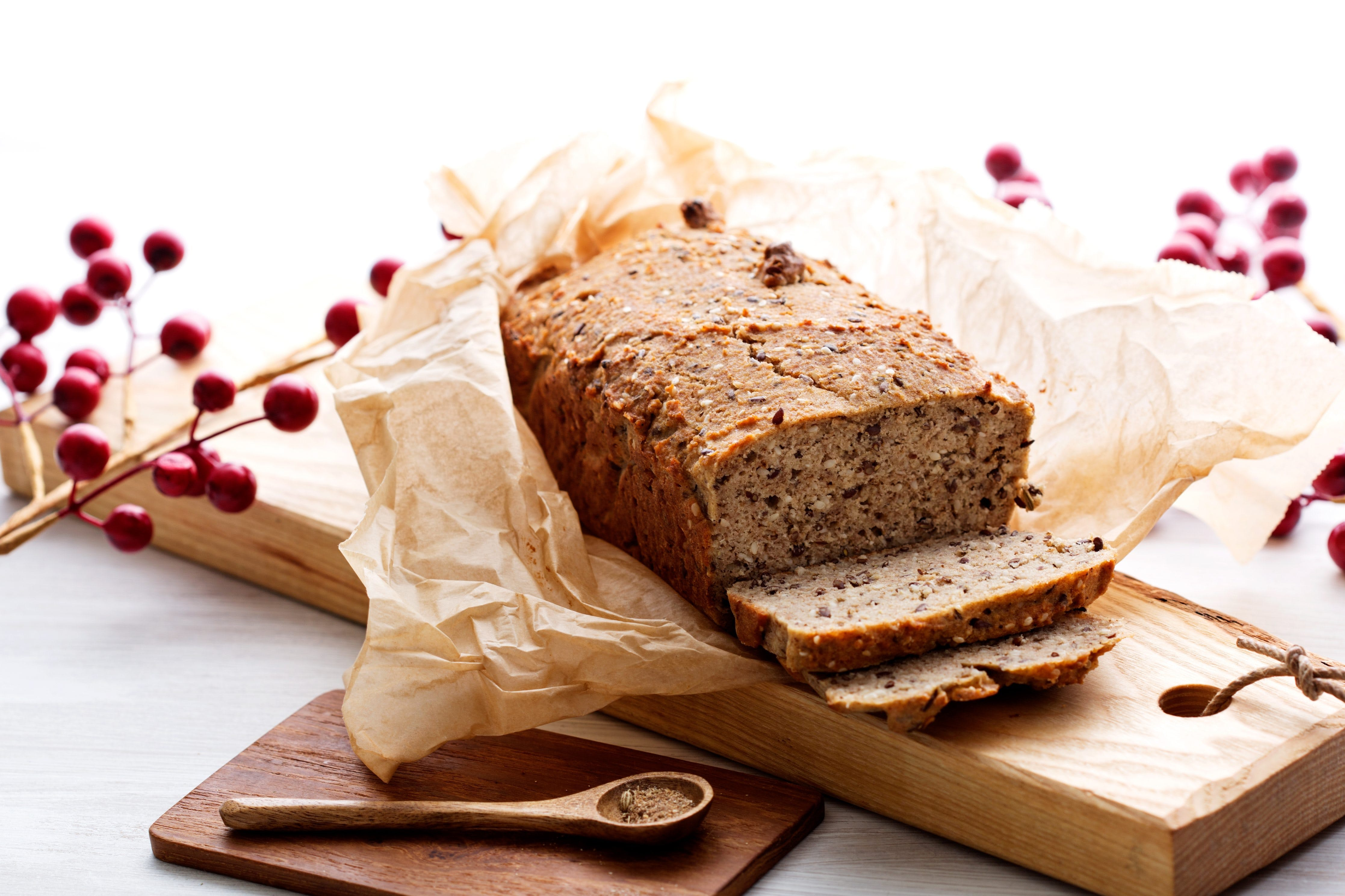 Low-carb holiday bread