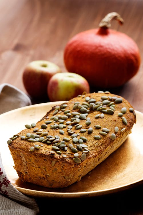Spiced low-carb pumpkin bread