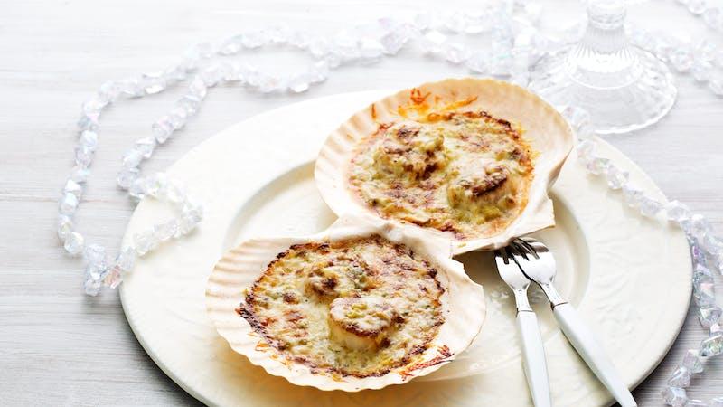 Scallops Parmesan - Festive Appetizer