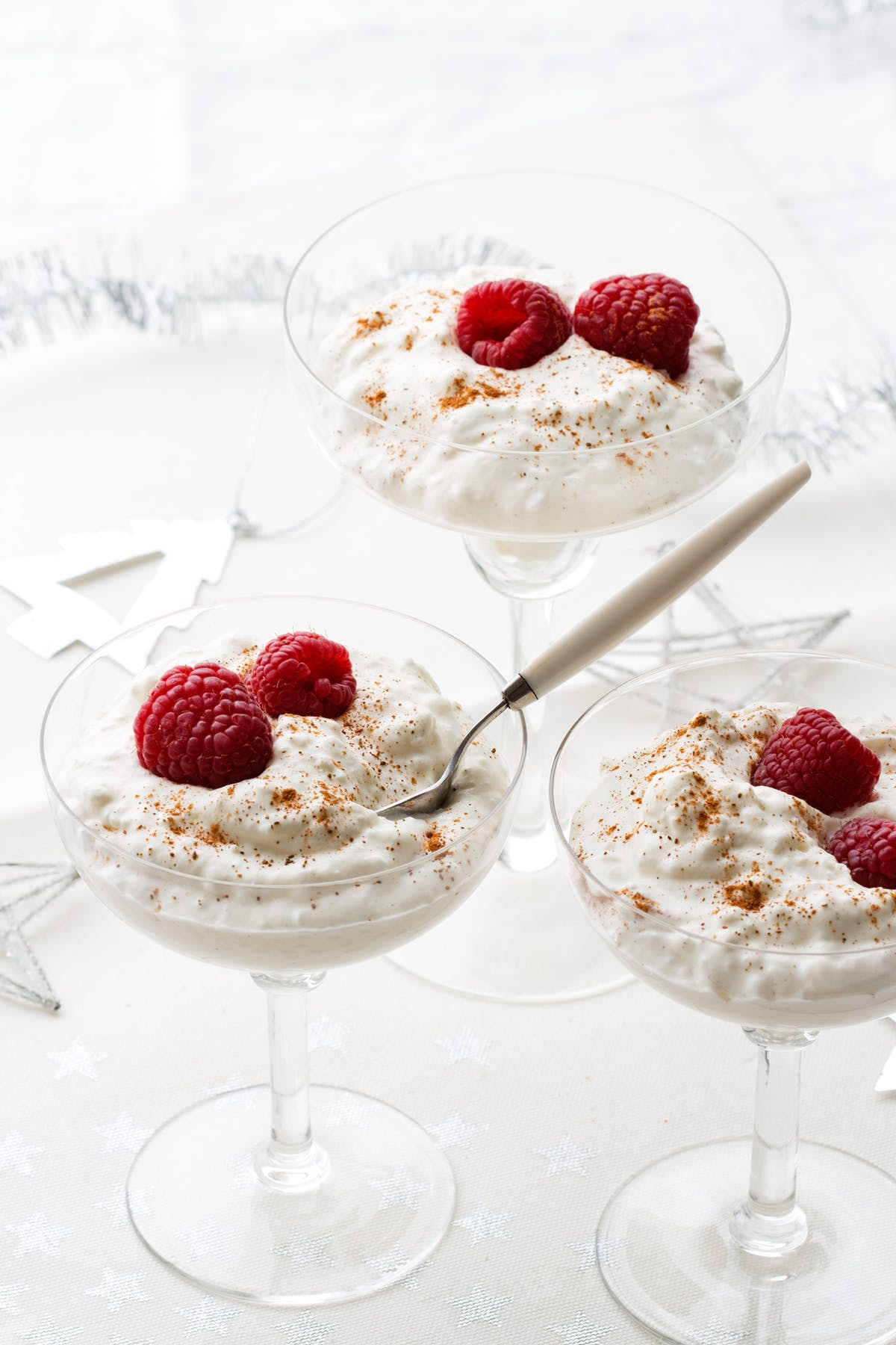 Creamy low-carb rice pudding