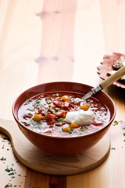 Low-carb Goulash soup<br />(Lunch)