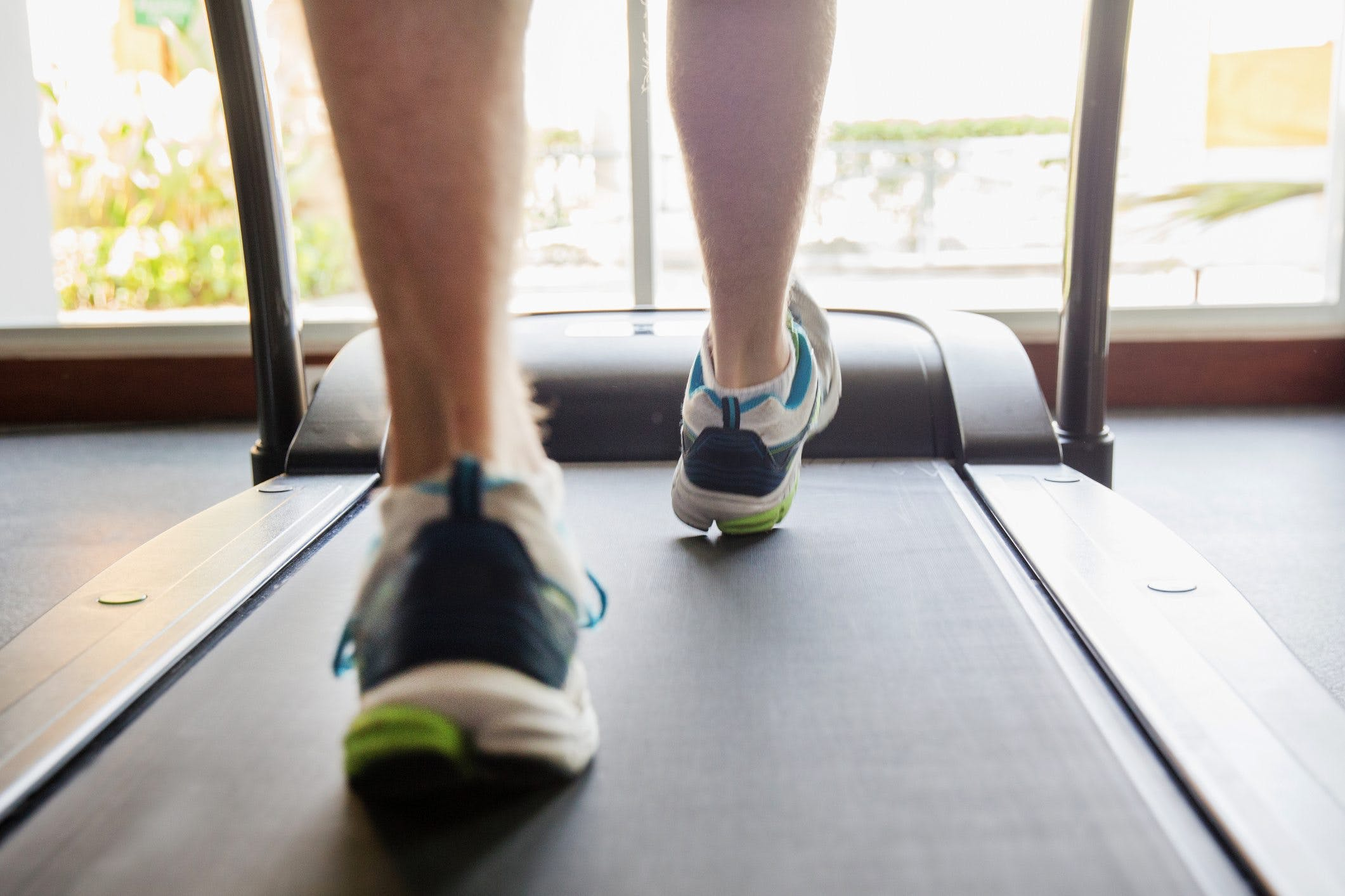 Losing weight by running on treadmill