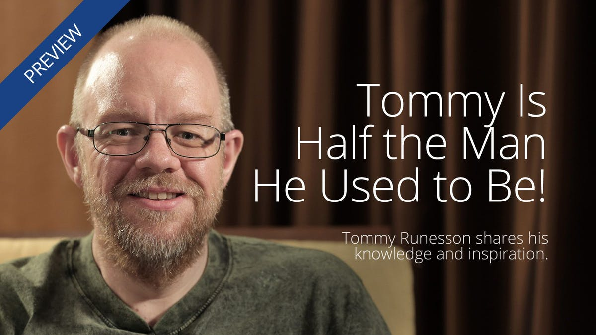 Tommy lost half his body weight – and kept it off!