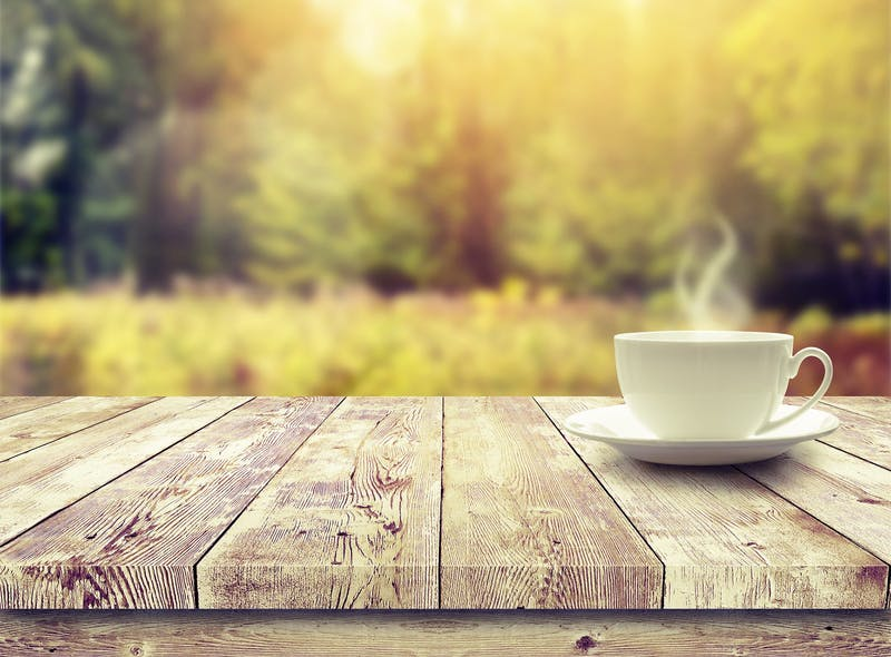 Coffee, tea and water are all allowed when fasting