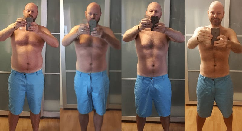 Robbie's weight-loss progress