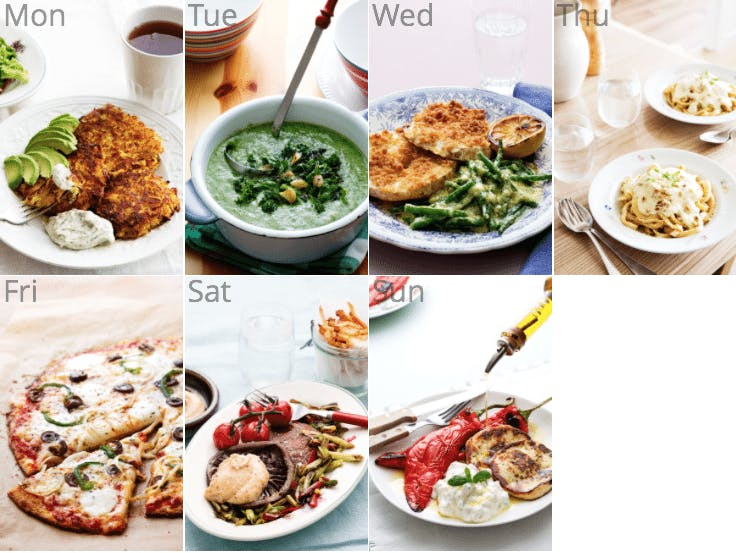 New vegetarian low-carb meal plan