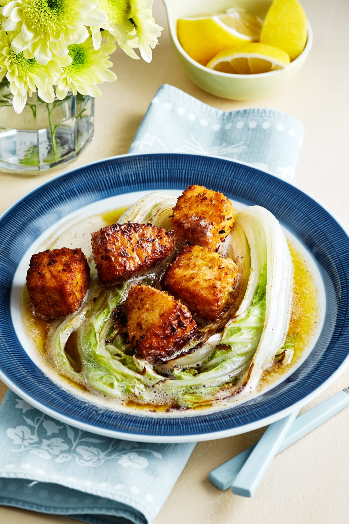 Keto coconut salmon with Napa cabbage
