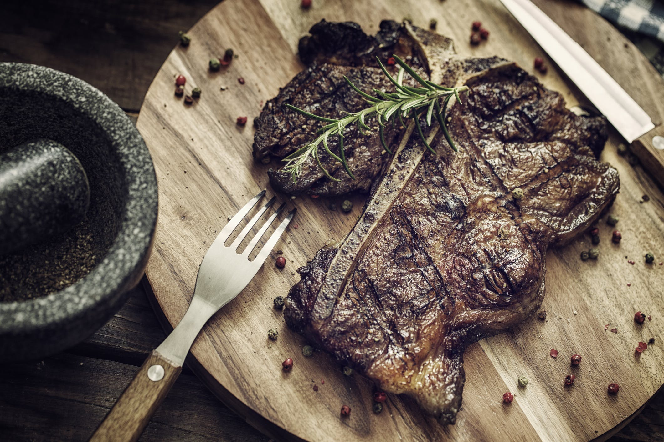 Medium Roasted T-Bone Steak