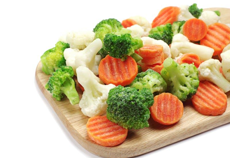 Different frozen vegetables