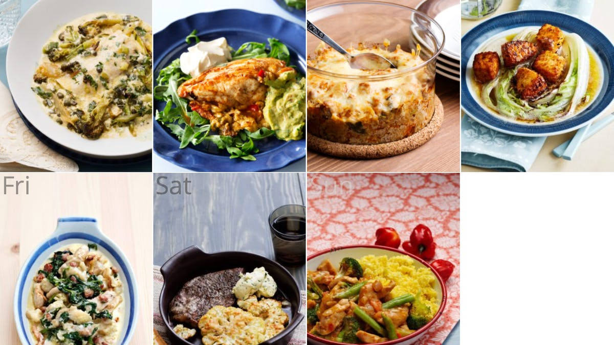 New low-carb and egg-free meal plan