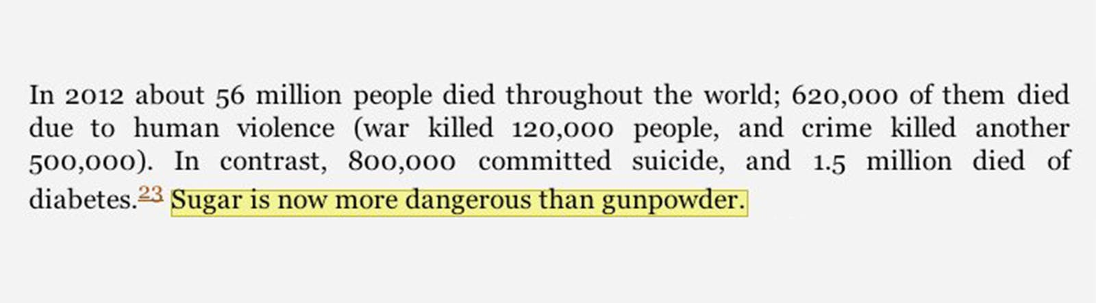 """Sugar Is Now More Dangerous Than Gunpowder"""