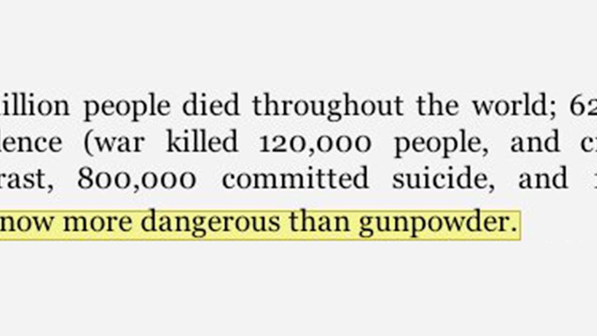 """""""Sugar is now more dangerous than gunpowder"""""""