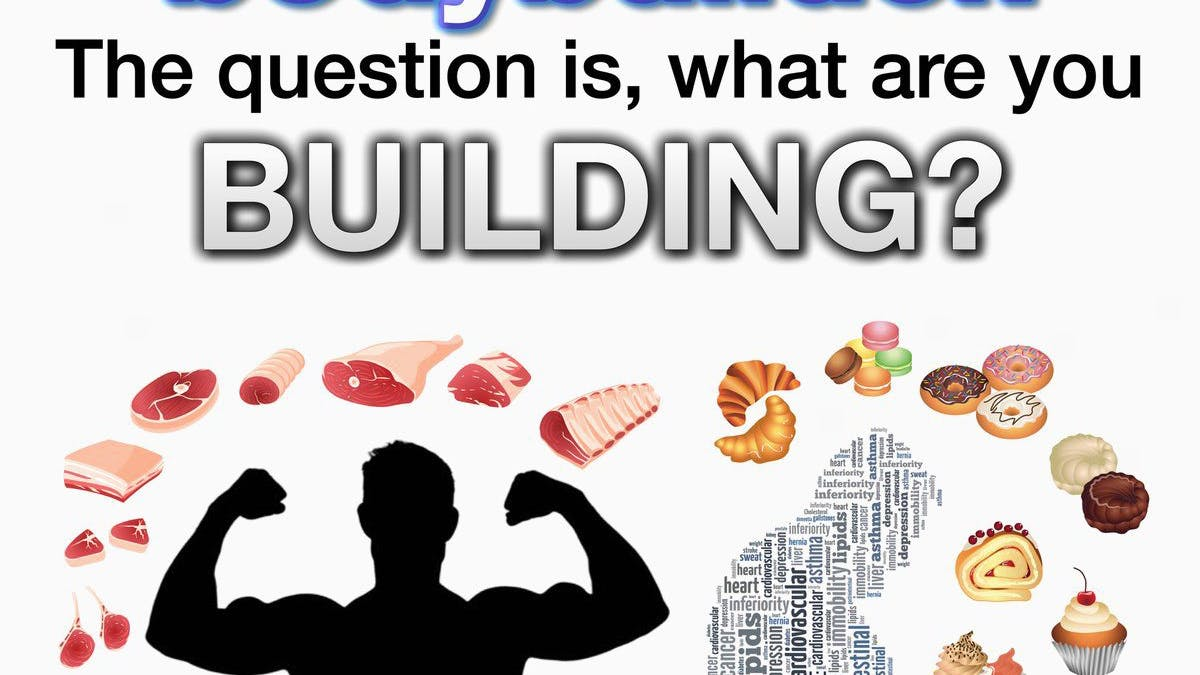 Are you bodybuilding your muscles or your fat cells?