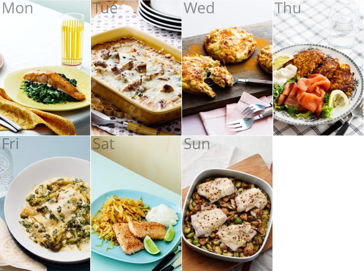 New ketogenic and pescetarian meal plan