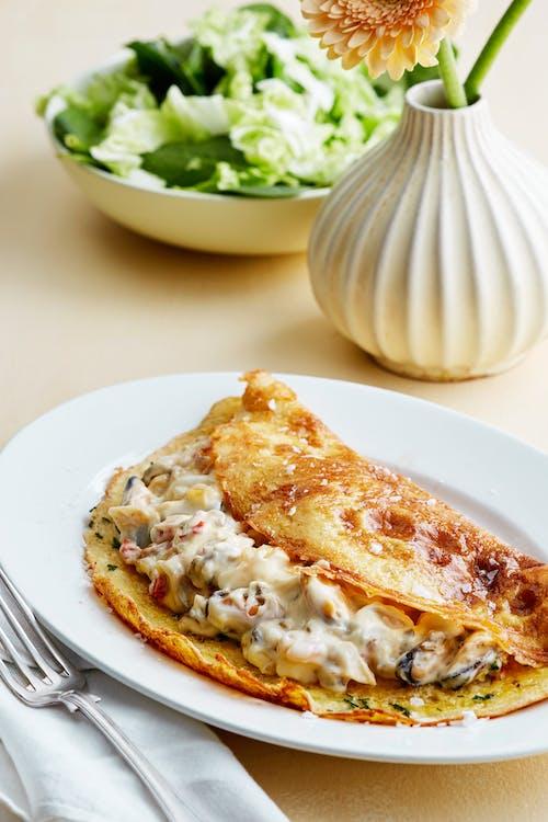 Keto seafood omelet