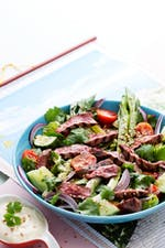 Keto Asian beef salad
