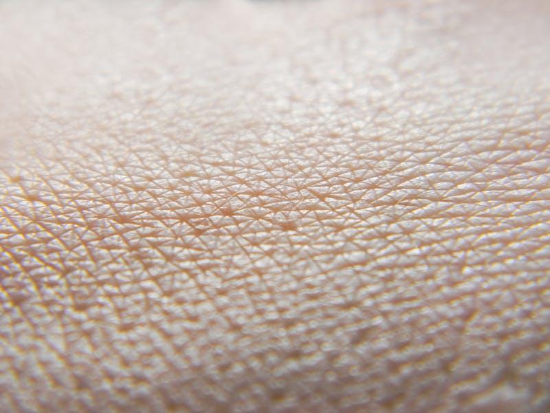 Human skin macro photo