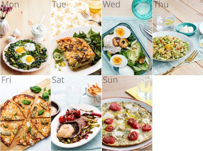 New vegetarian meal plan