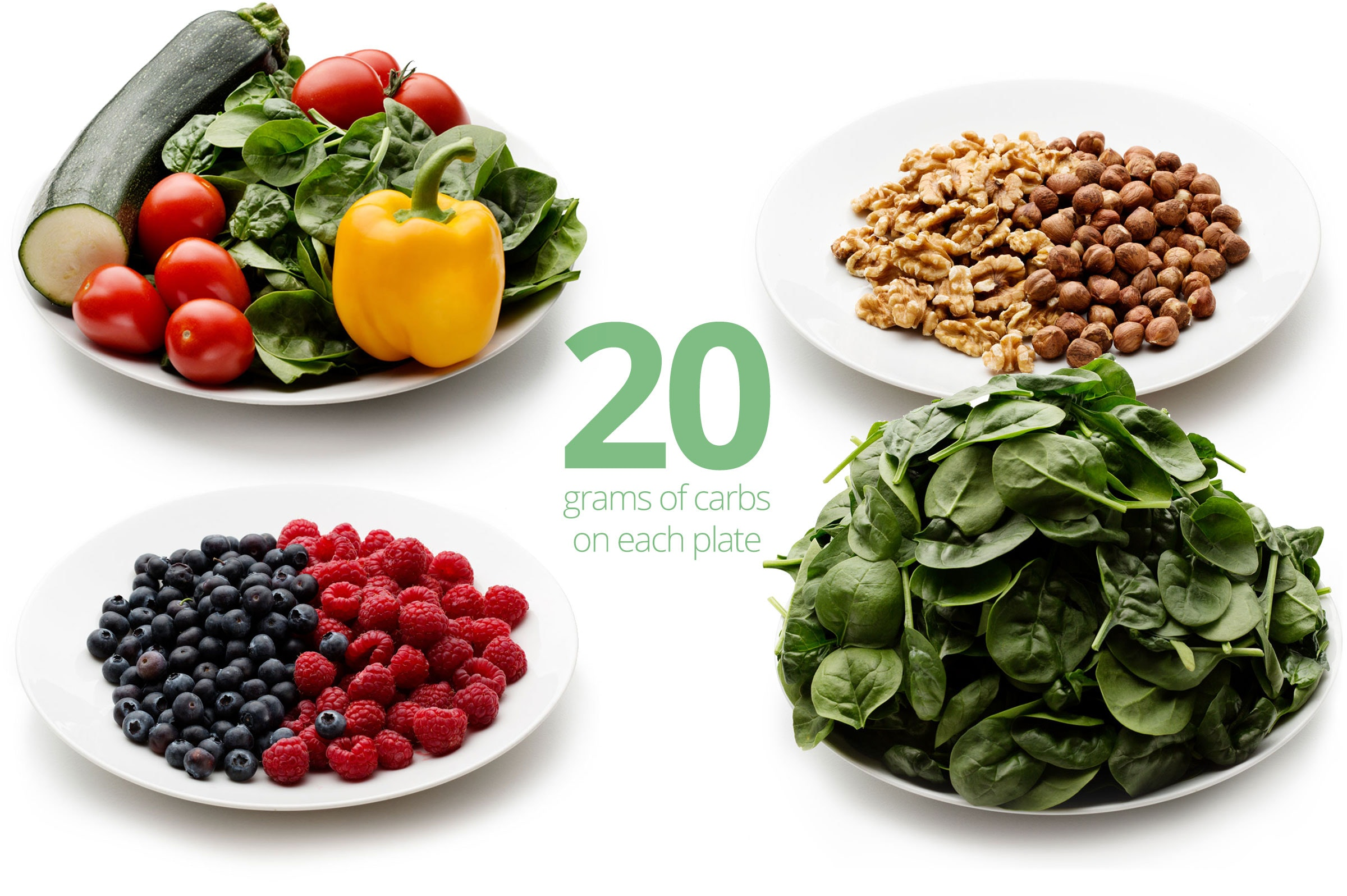 How many grams of carbs in 1 cup spinach