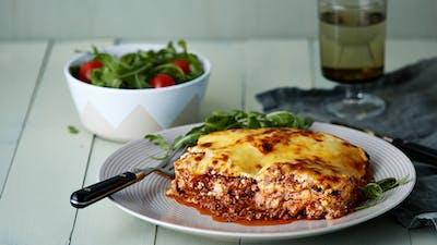 Easy protein noodle lasagna
