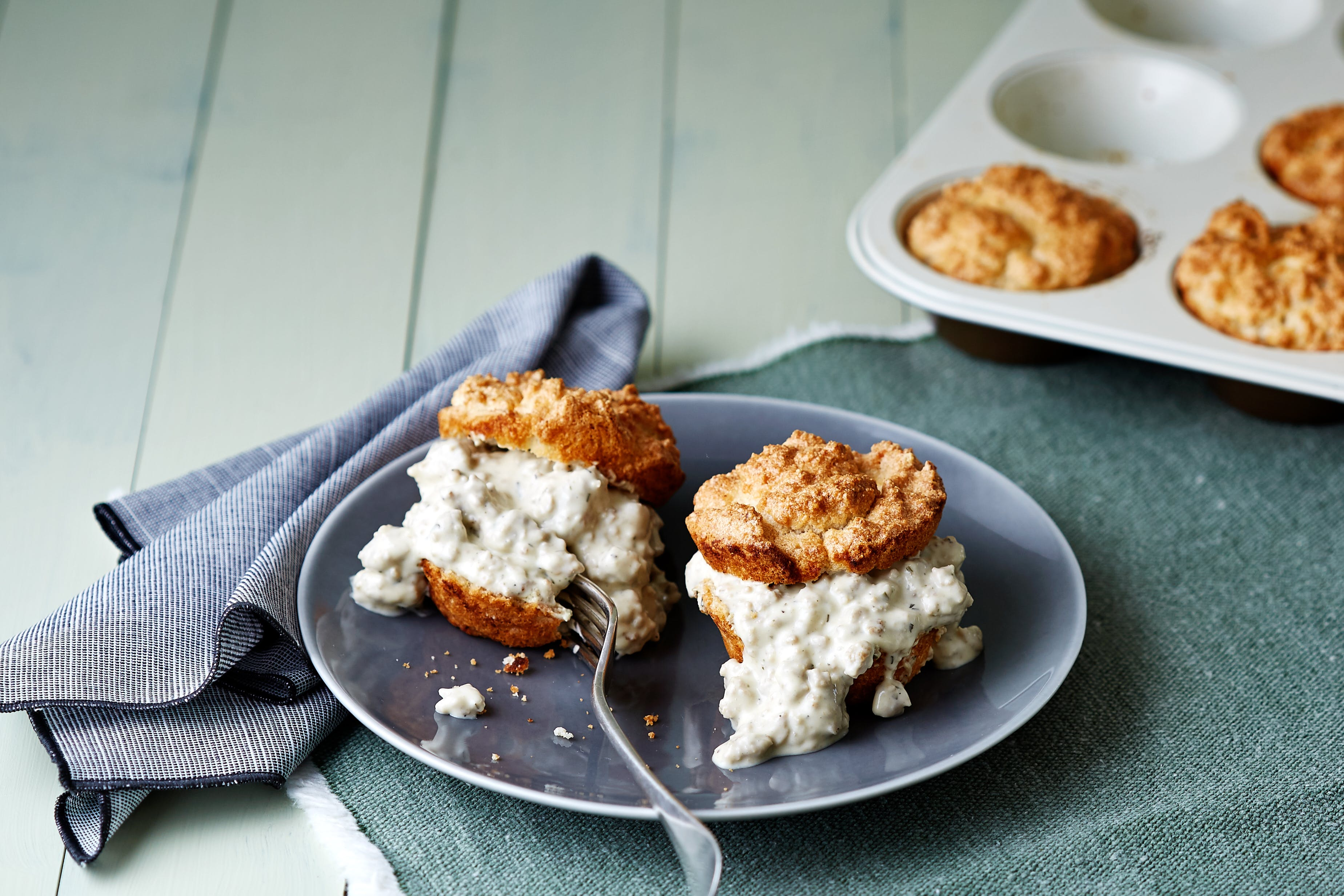 Low-Carb Biscuits and Gravy - Healthy Comfort Food