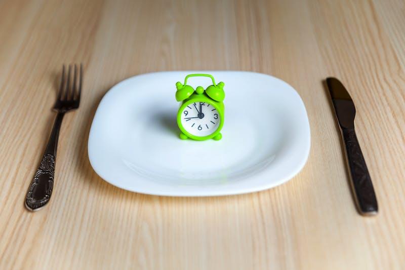 Alarm clock and utensils