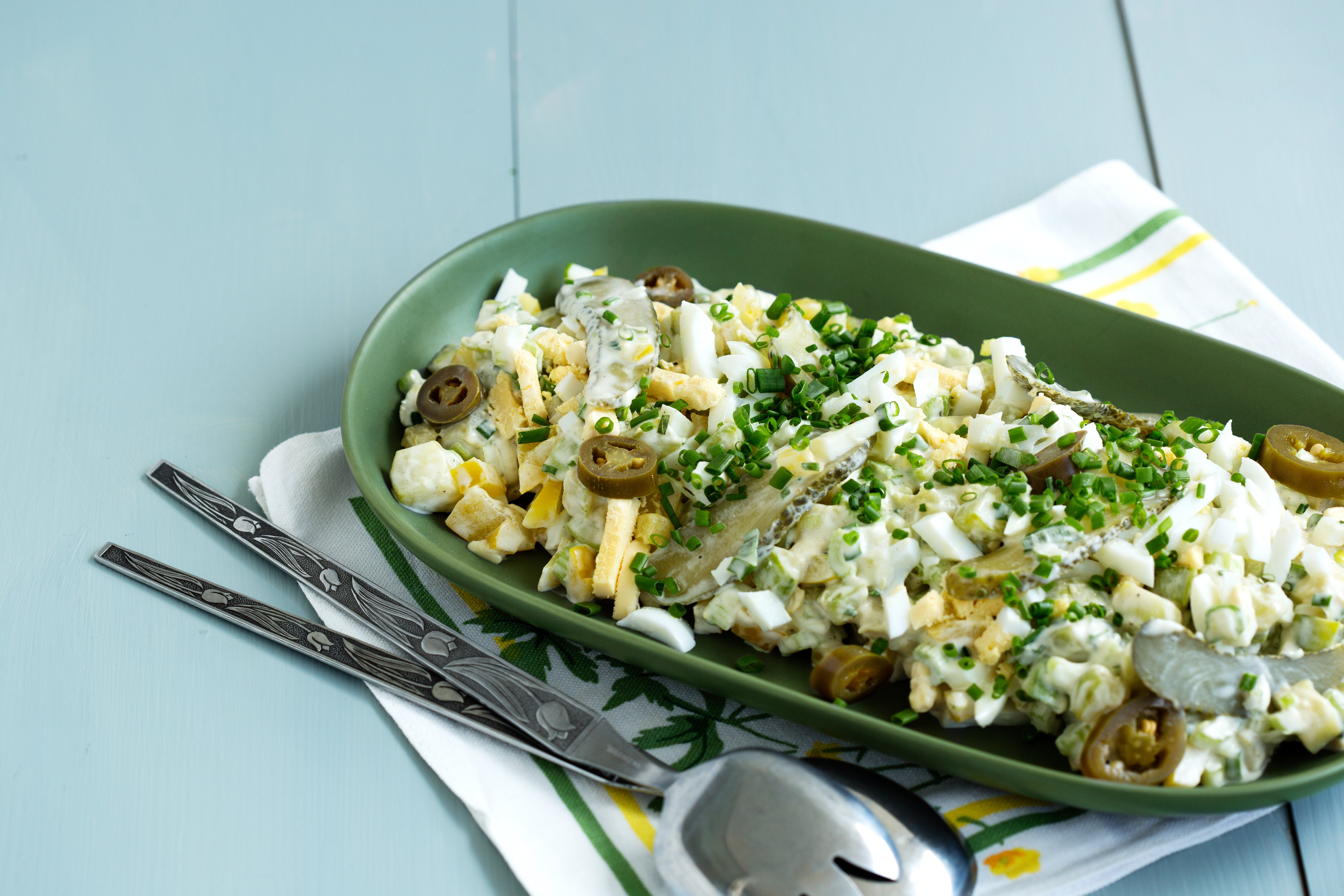 Zucchini salad with eggs