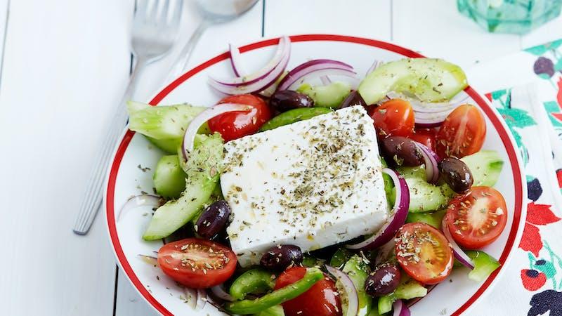希腊沙拉-正宗的低碳水化合物食谱