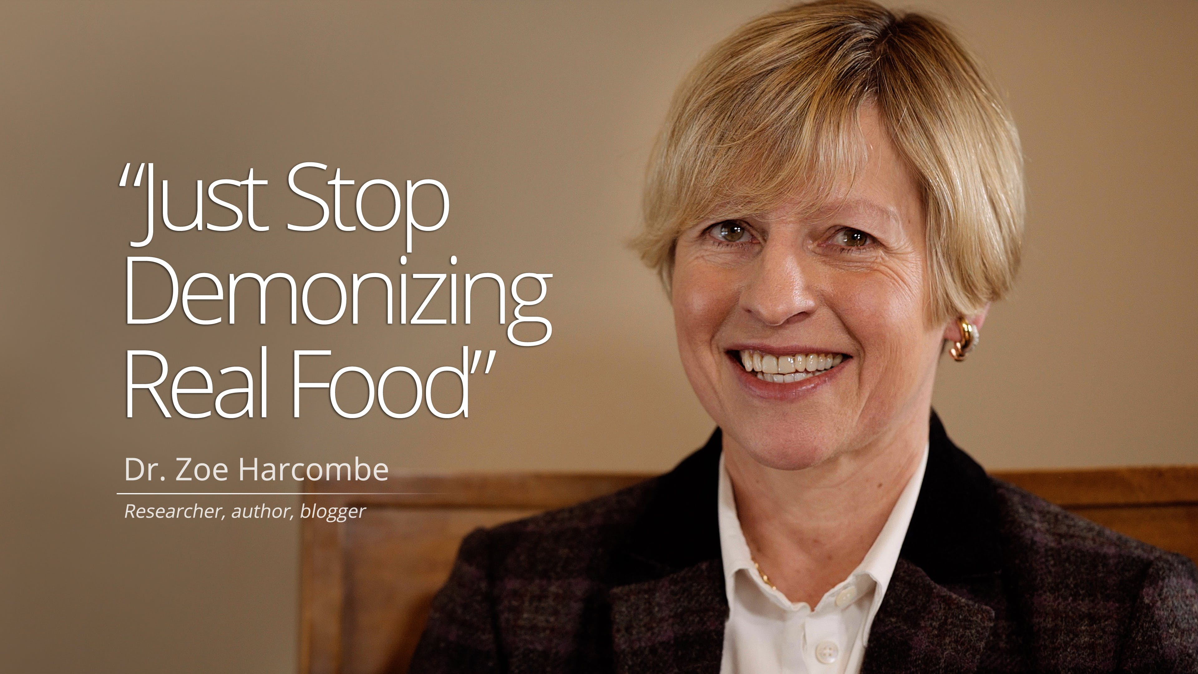 """Just Stop Demonizing Real Food"""