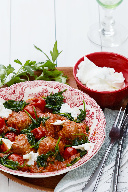 Boulettes de viande italienne céto avec fromage mozzarella