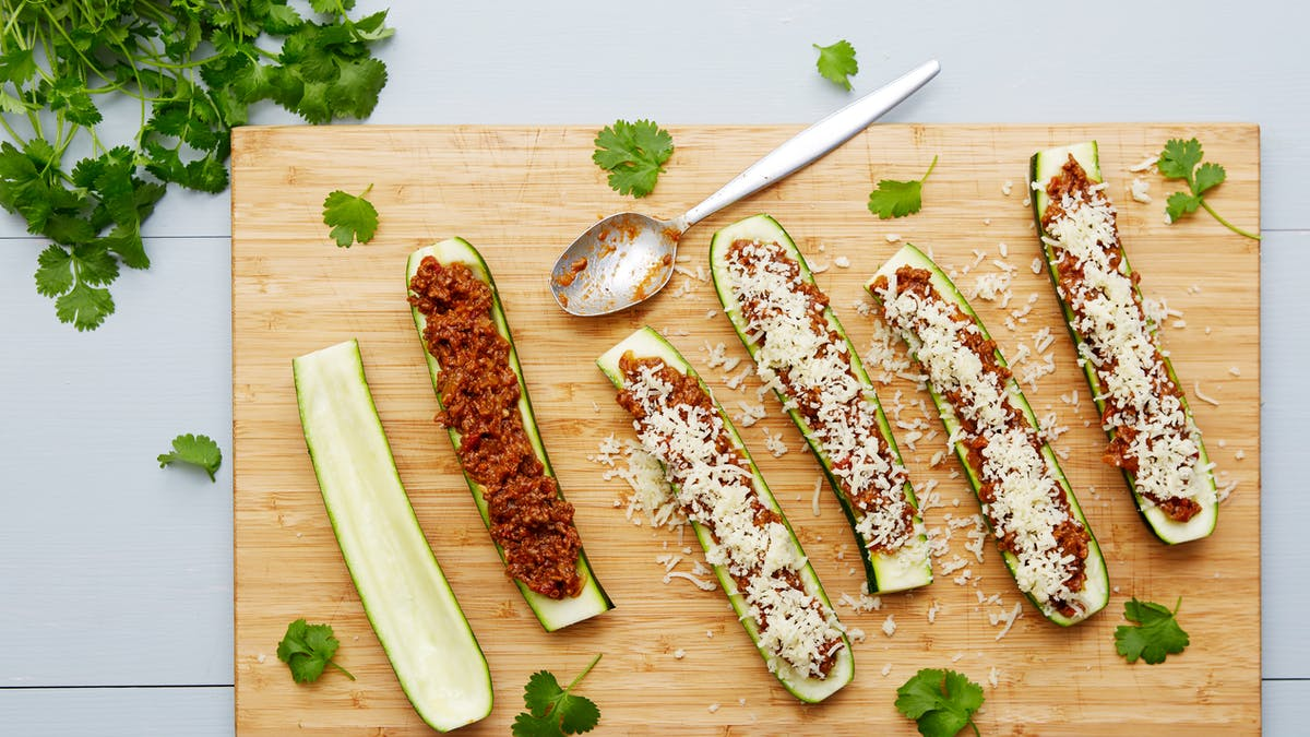 Keto Tex-Mex stuffed zucchini boats