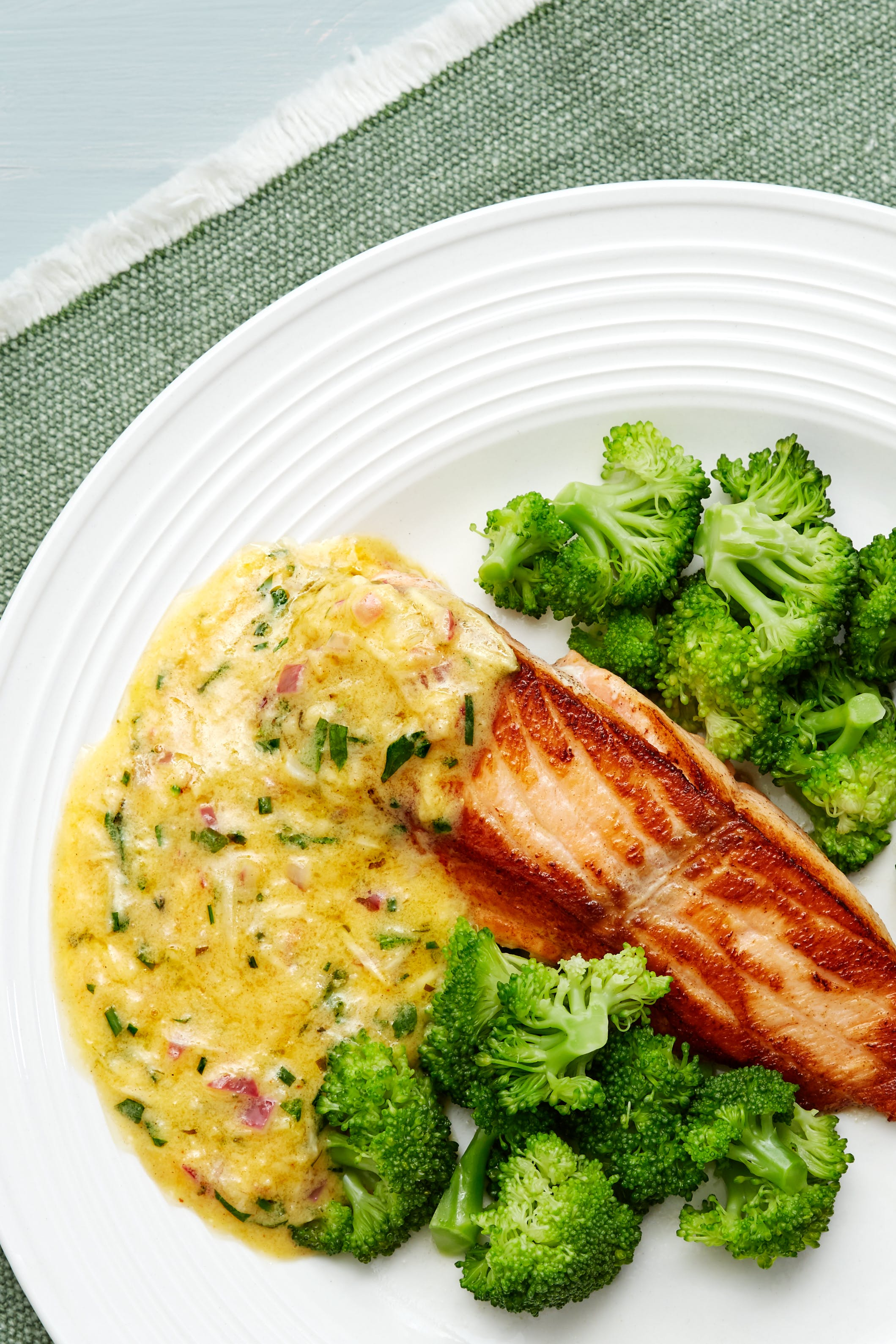 Keto salmon with cowboy sauce