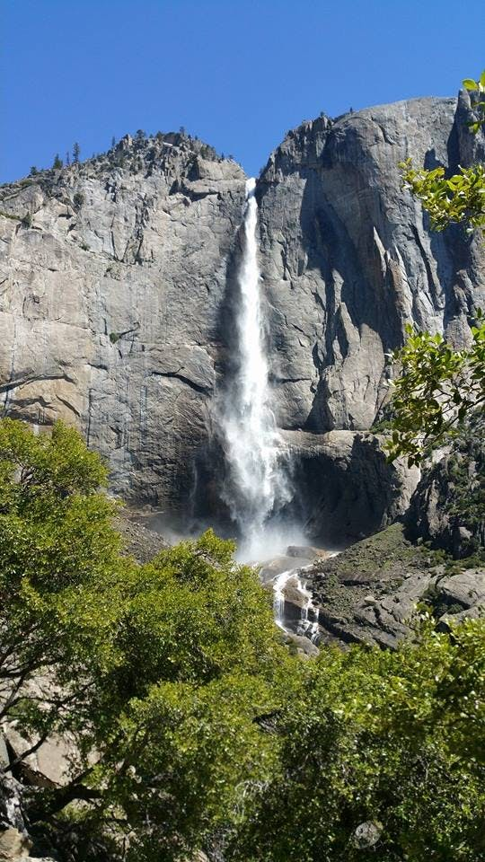 Family hiking view from Yosemite