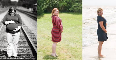 Natalie Thompson Cooper 24 weeks in all three pregnancies