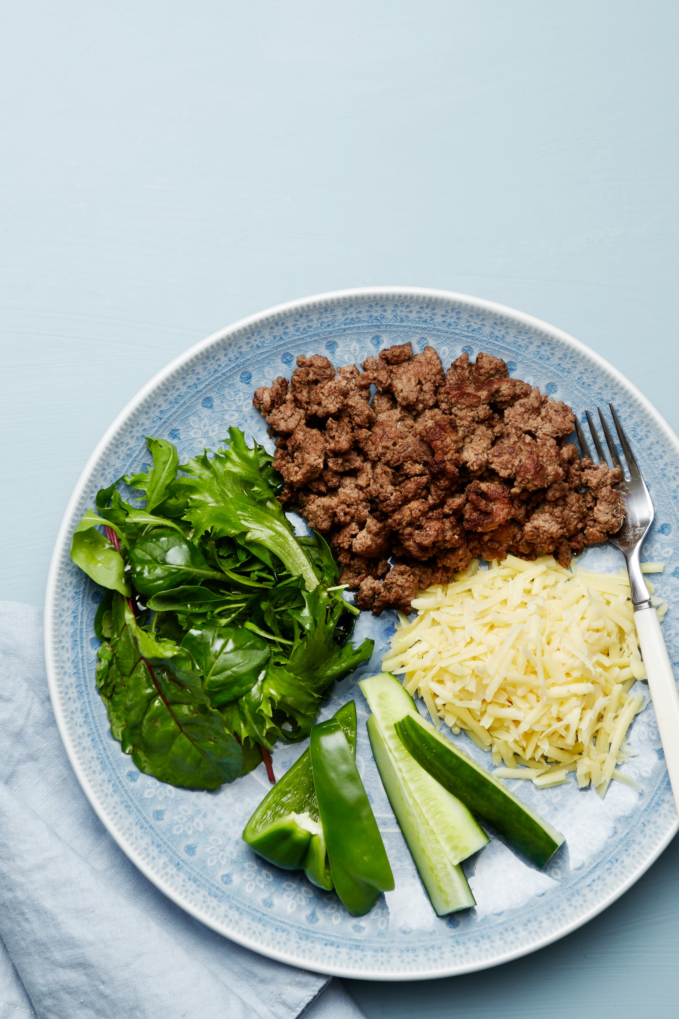 Keto ground beef plate