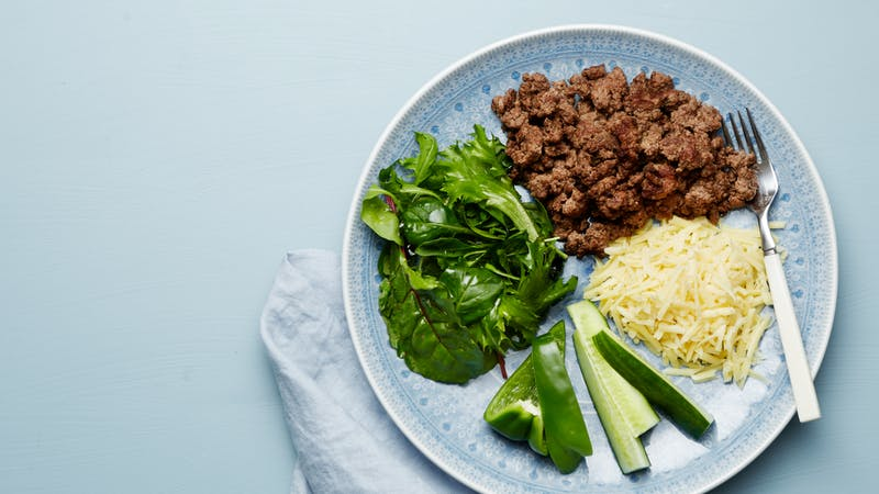 Keto ground beef plate