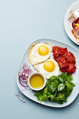 Keto mackerel and egg plate