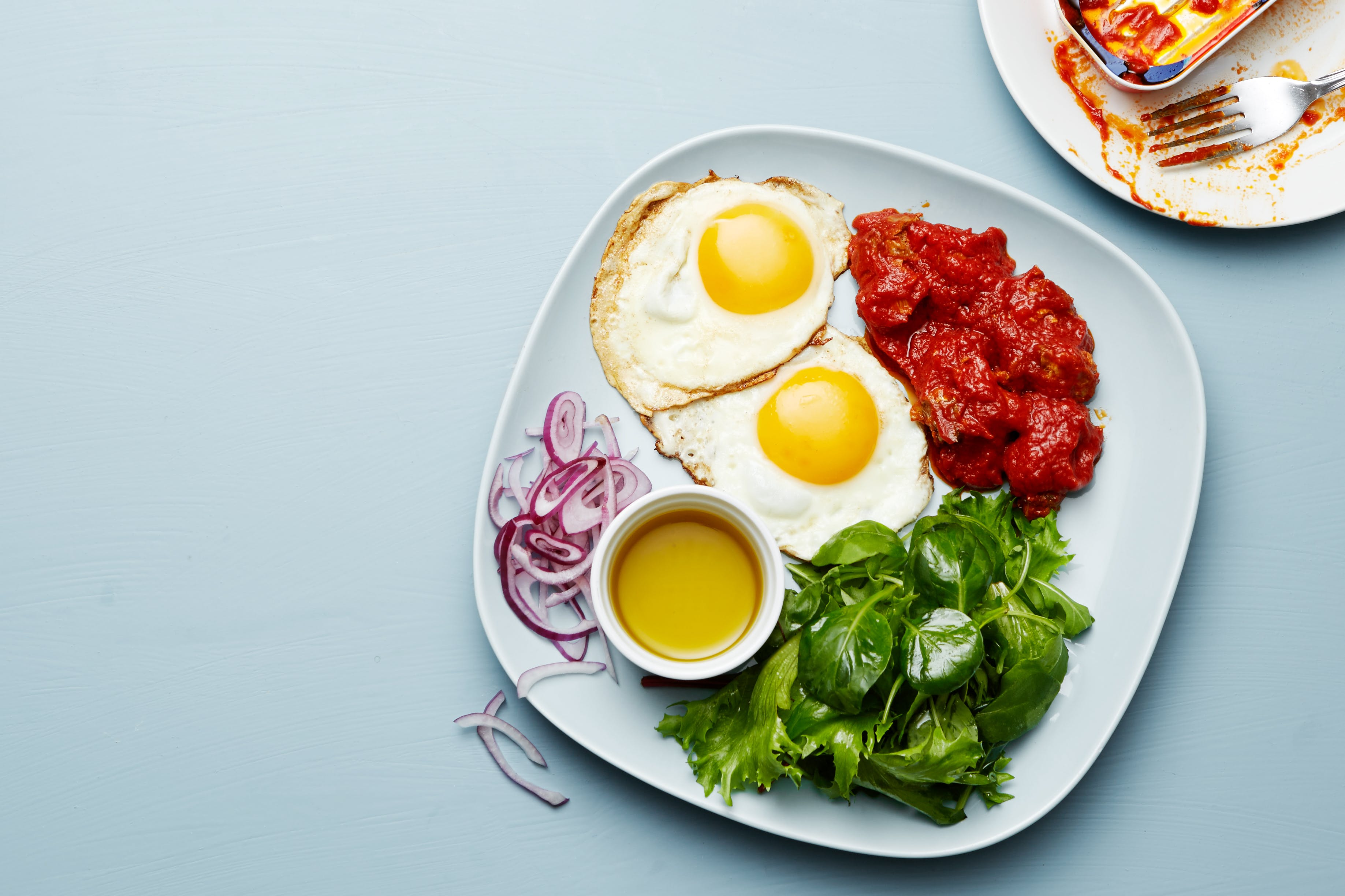Keto mackerel and egg plate