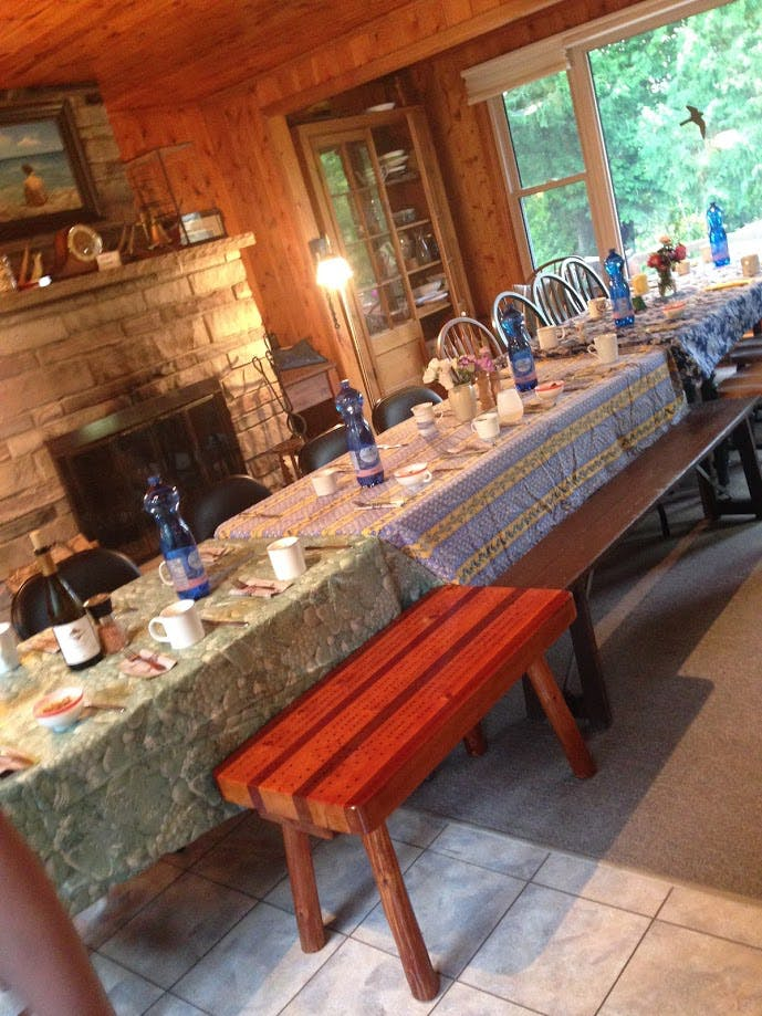 cottage dinner table