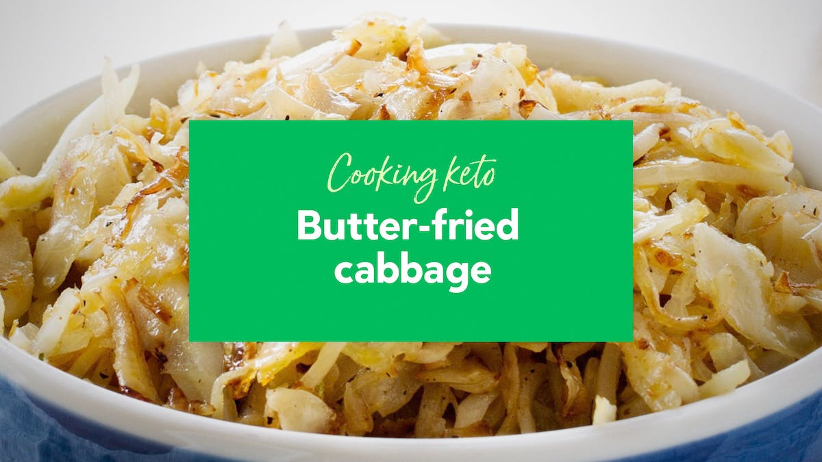Butter-fried cabbage