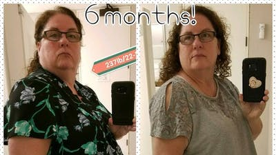 """So proud of the results"" on a low-carb diet"