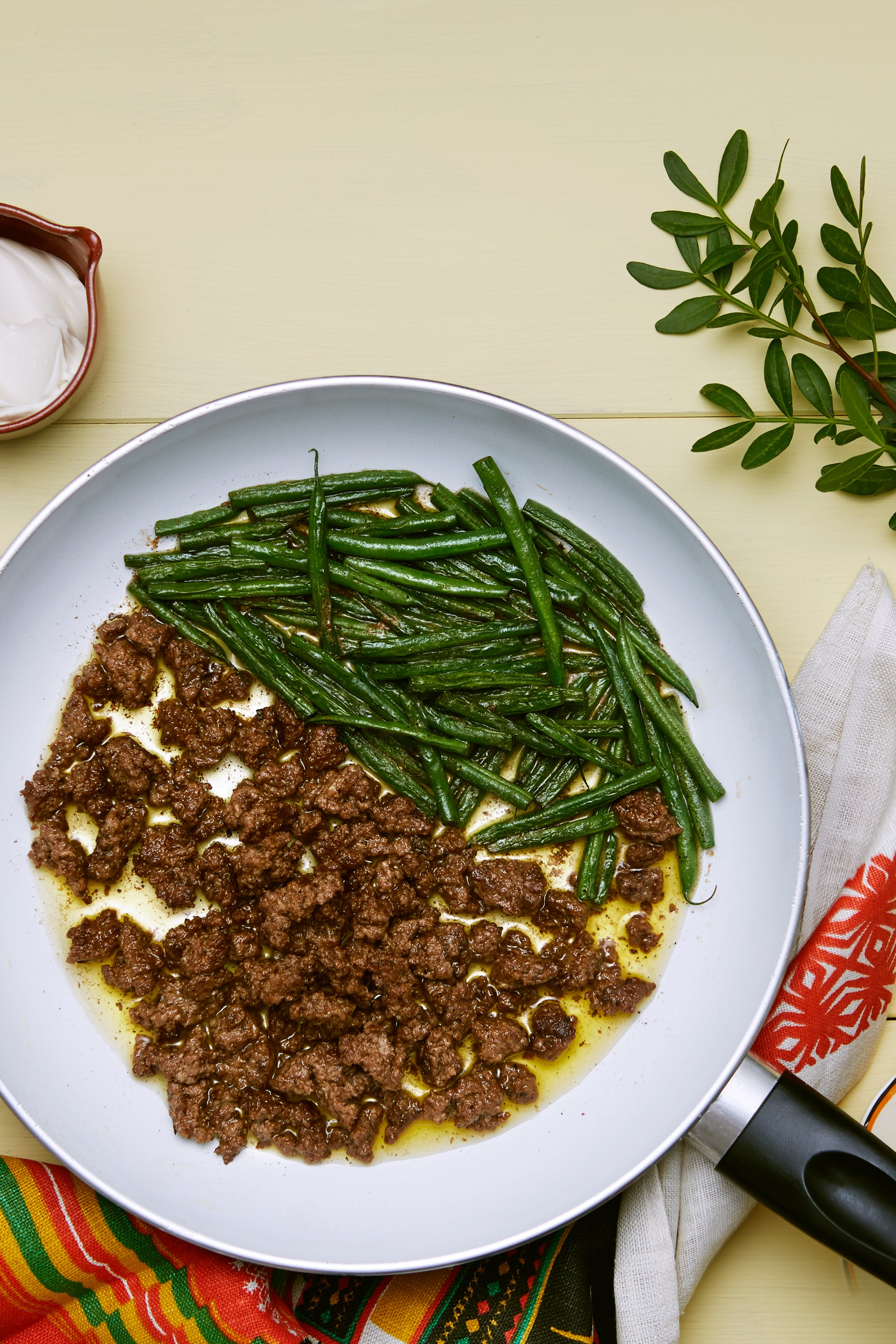 Keto ground beef and green beans