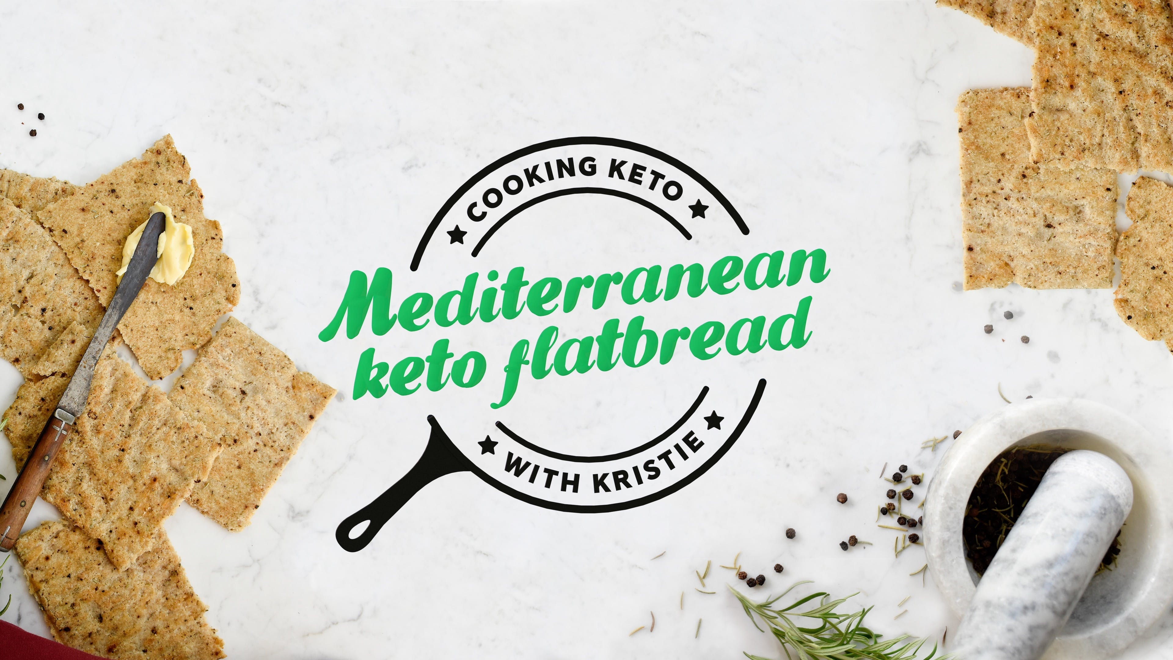 Cooking keto with Kristie – Mediterranean keto flatbread