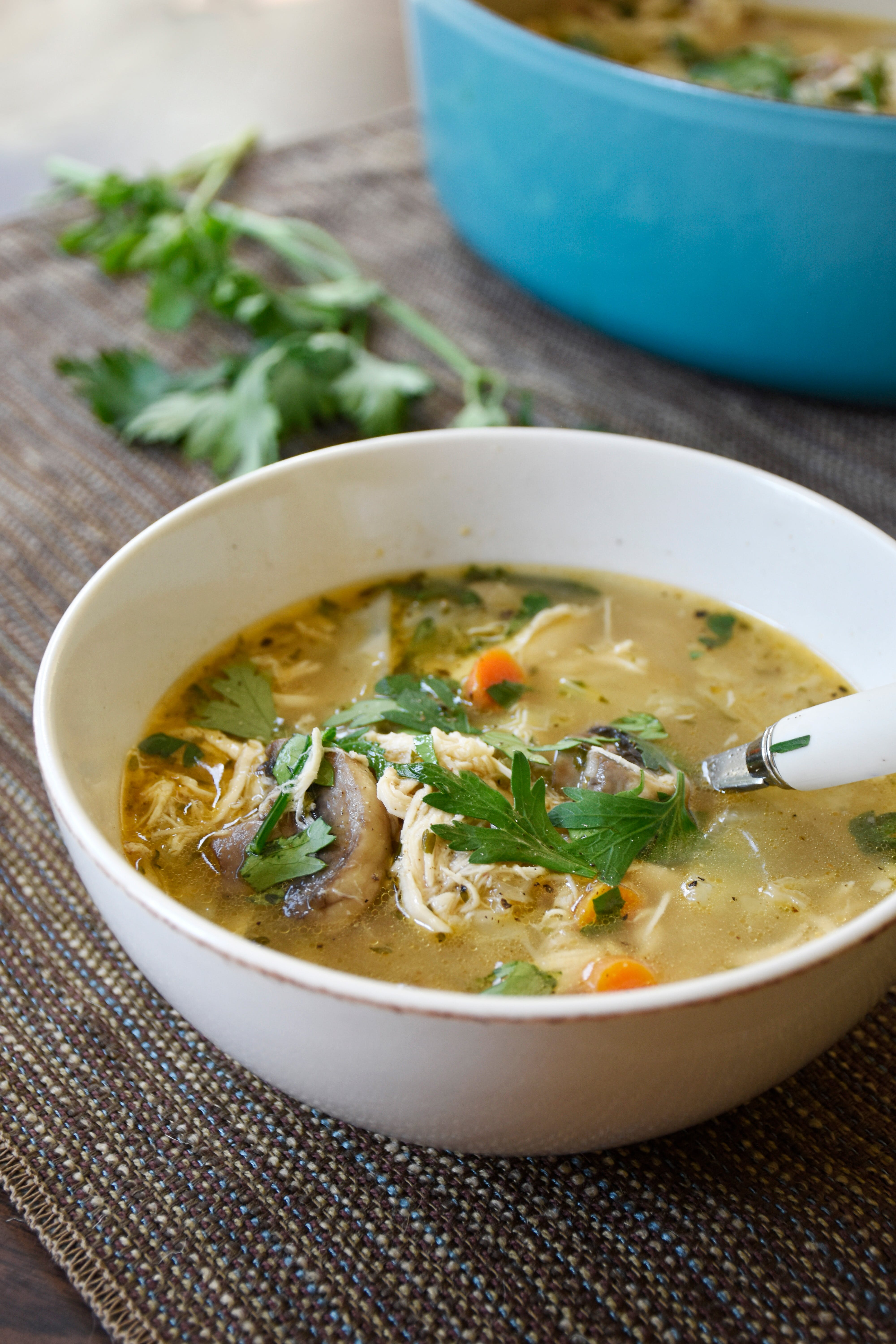 Keto no-noodle chicken soup