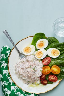 Keto tuna salad with boiled eggs<br />(Lunch)
