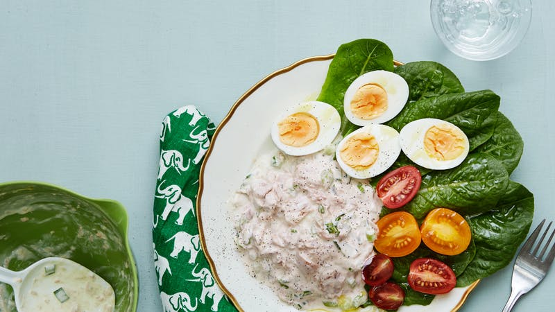 Keto Tuna Salad with Boiled Eggs - Quick and Easy