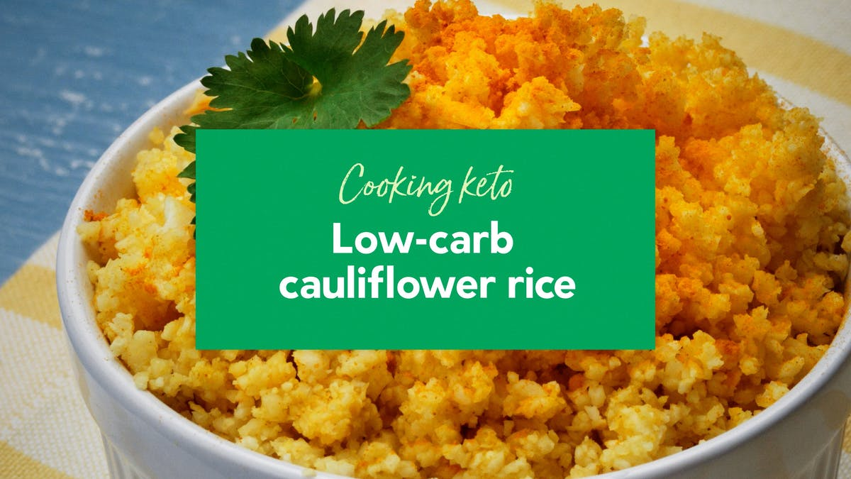 Low-carb cauliflower rice