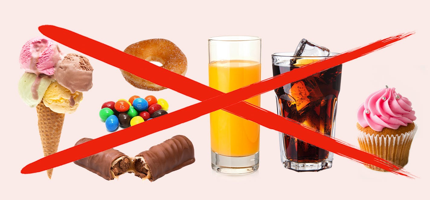 Avoid sugary foods on keto