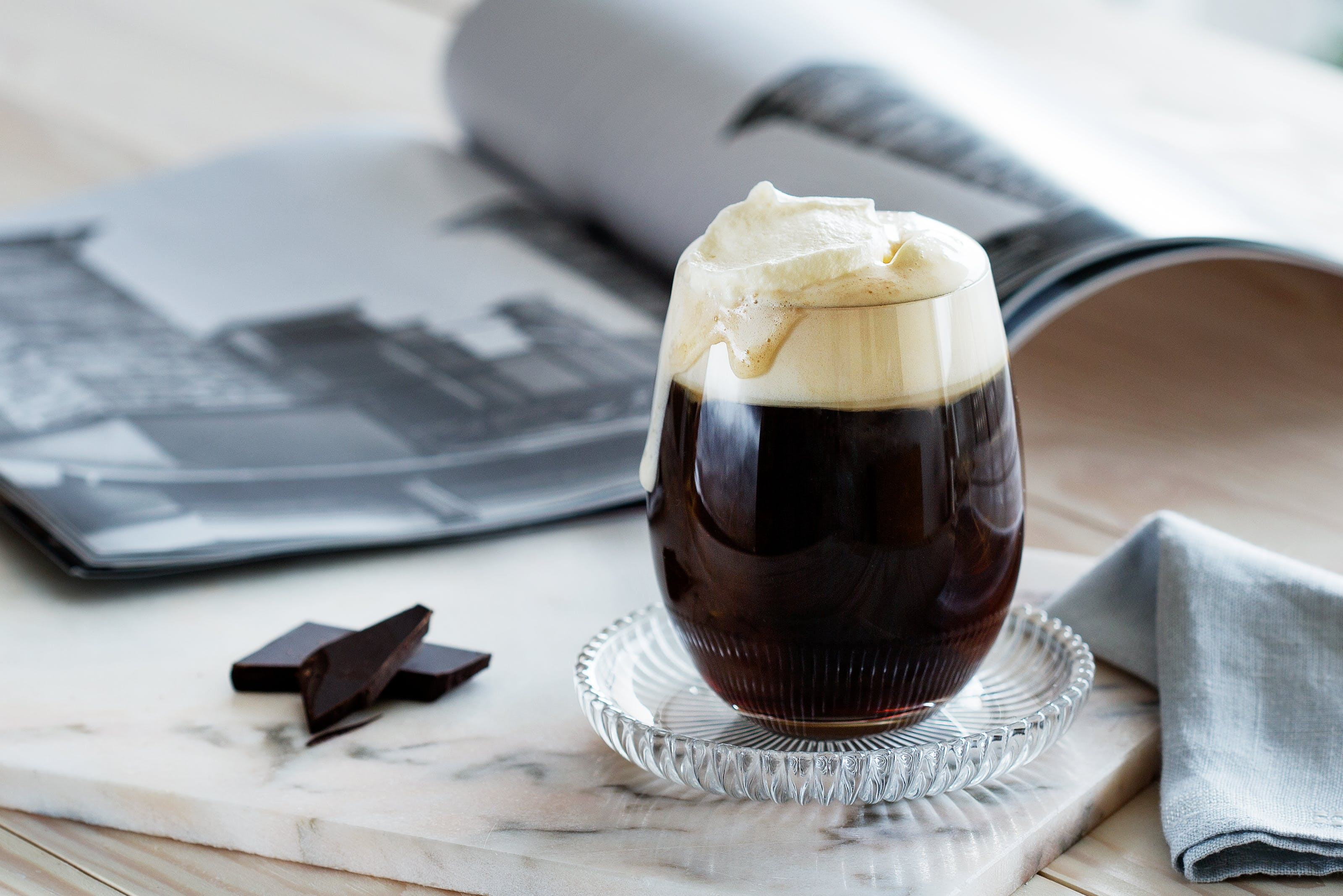 Coffee with Whipped Cream and a Touch of Vanilla